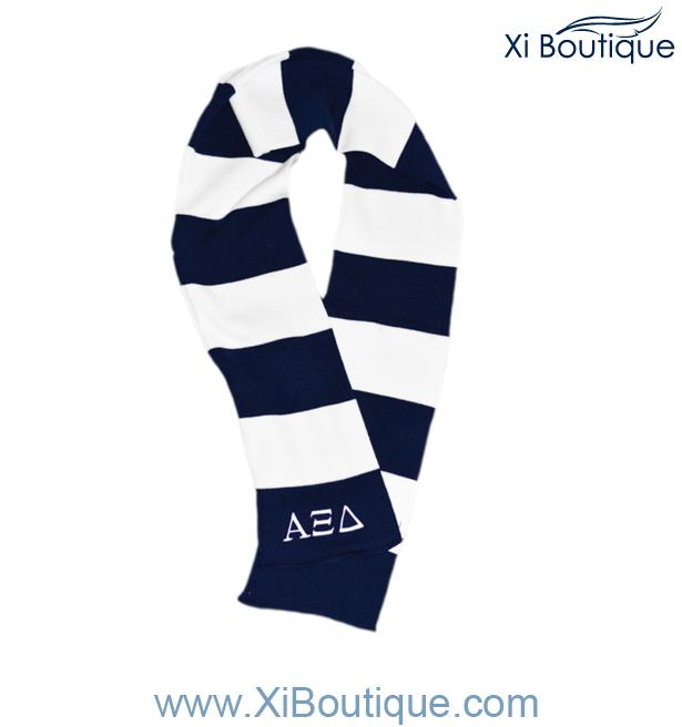 All Accessories Navy White Striped Scarf Scarf